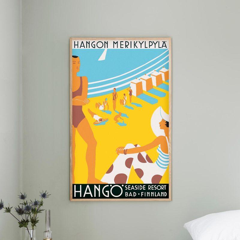 Hangon Merikylpylä - juliste 59 x 99 cm