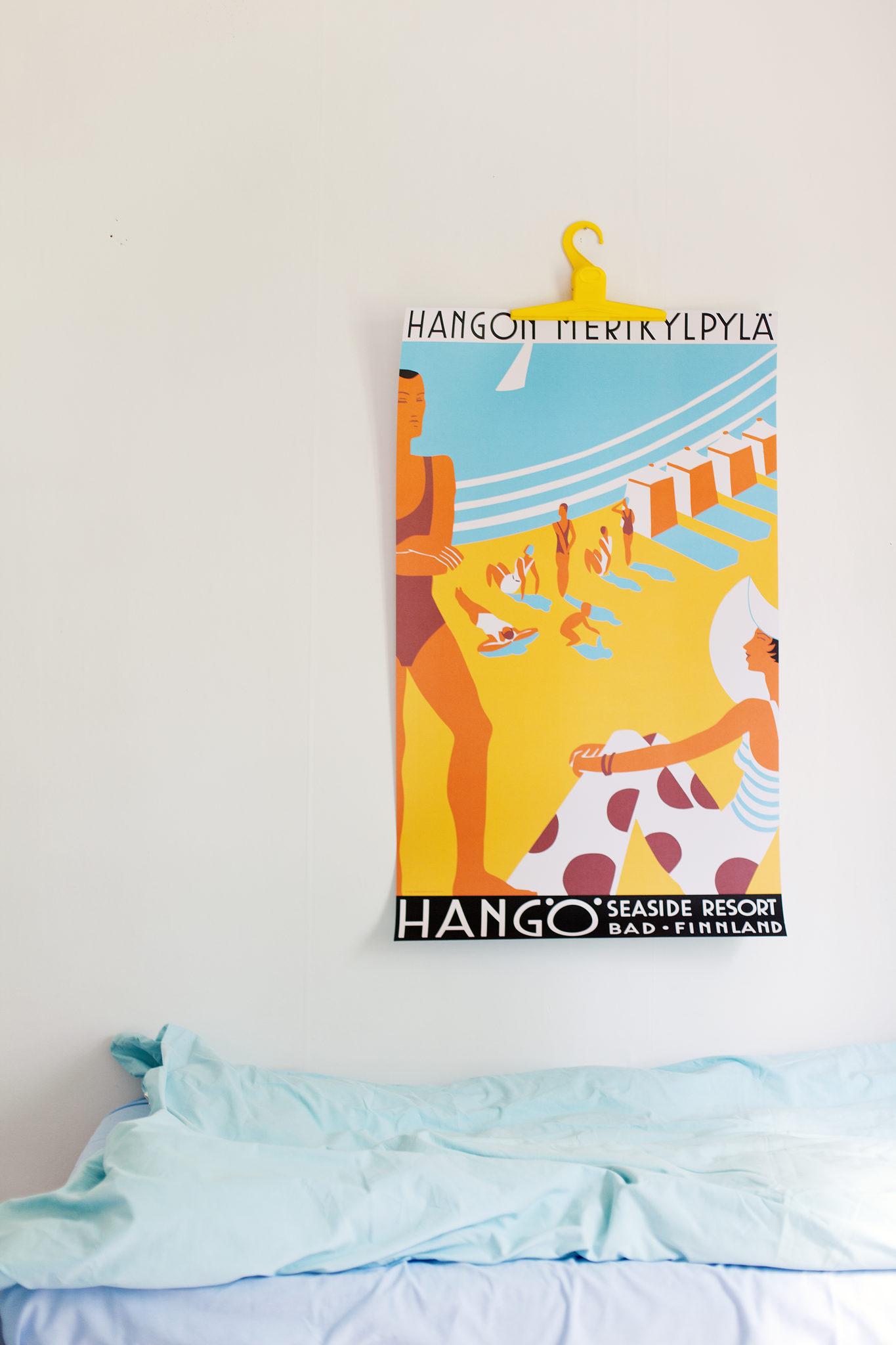 Affisch med havsbadsmotiv  (stor)