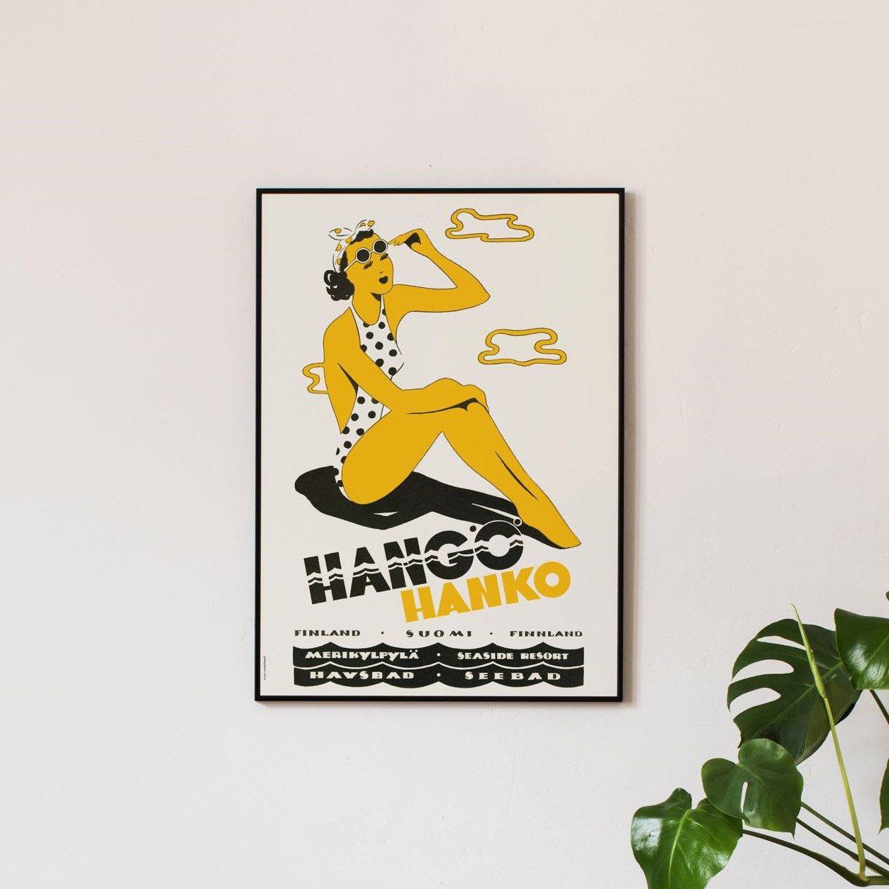 Hangö-damen affisch 59x99 cm