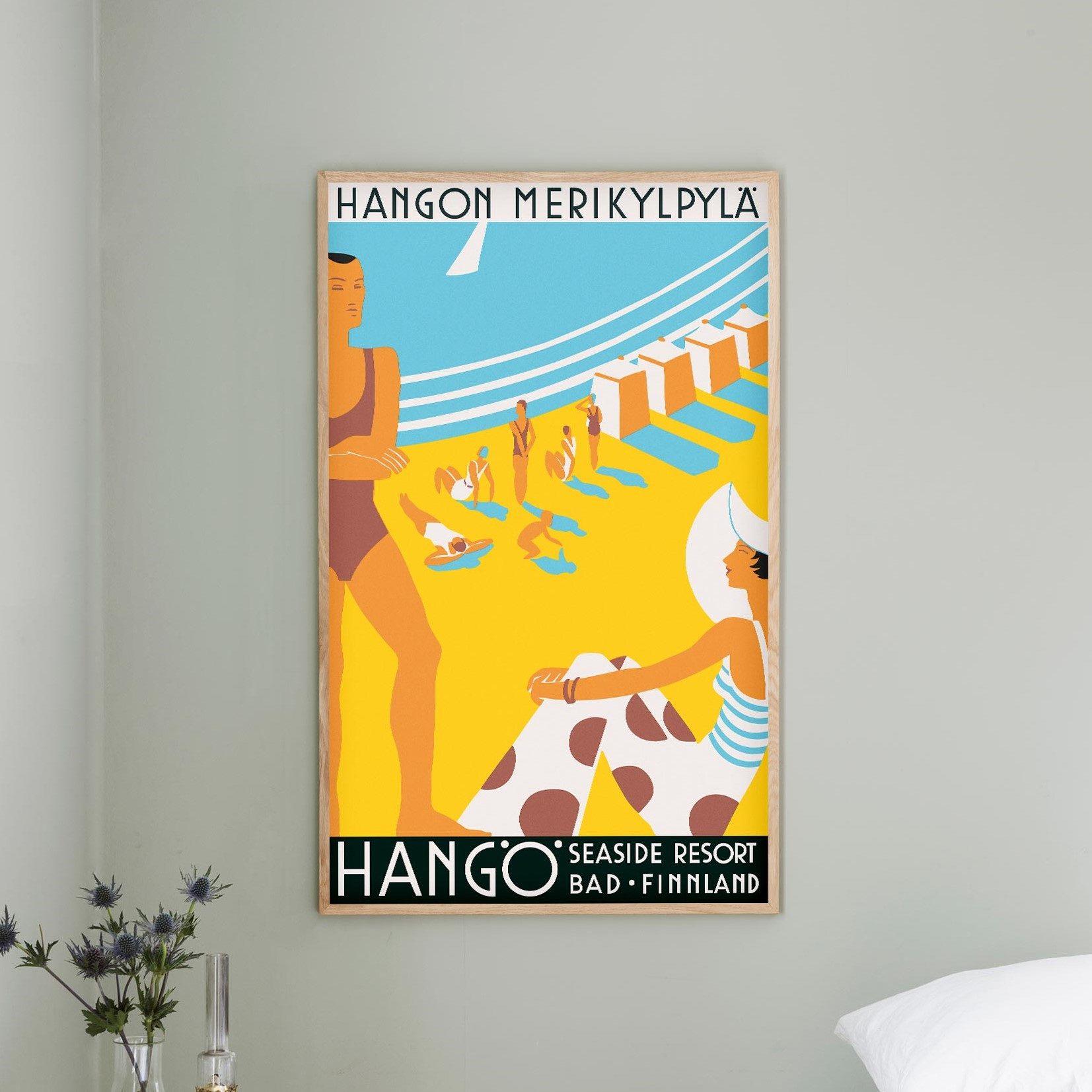 Hangon Merikylpylä - juliste 59x99 cm