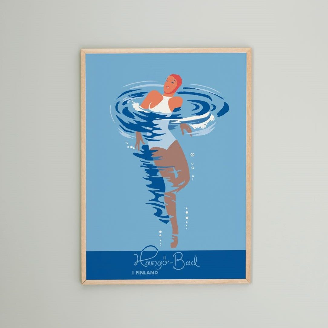 Hangöbadaren - affisch 50x70 cm