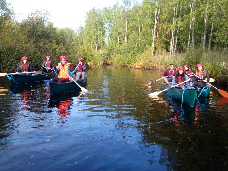 Joki- ja järvimelontareitti erämaisemissa 12,7 km