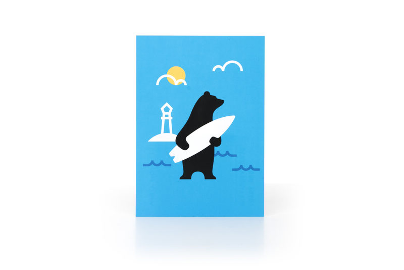 Surfbear Postcard