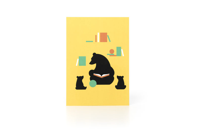 Reading Bear Postcard