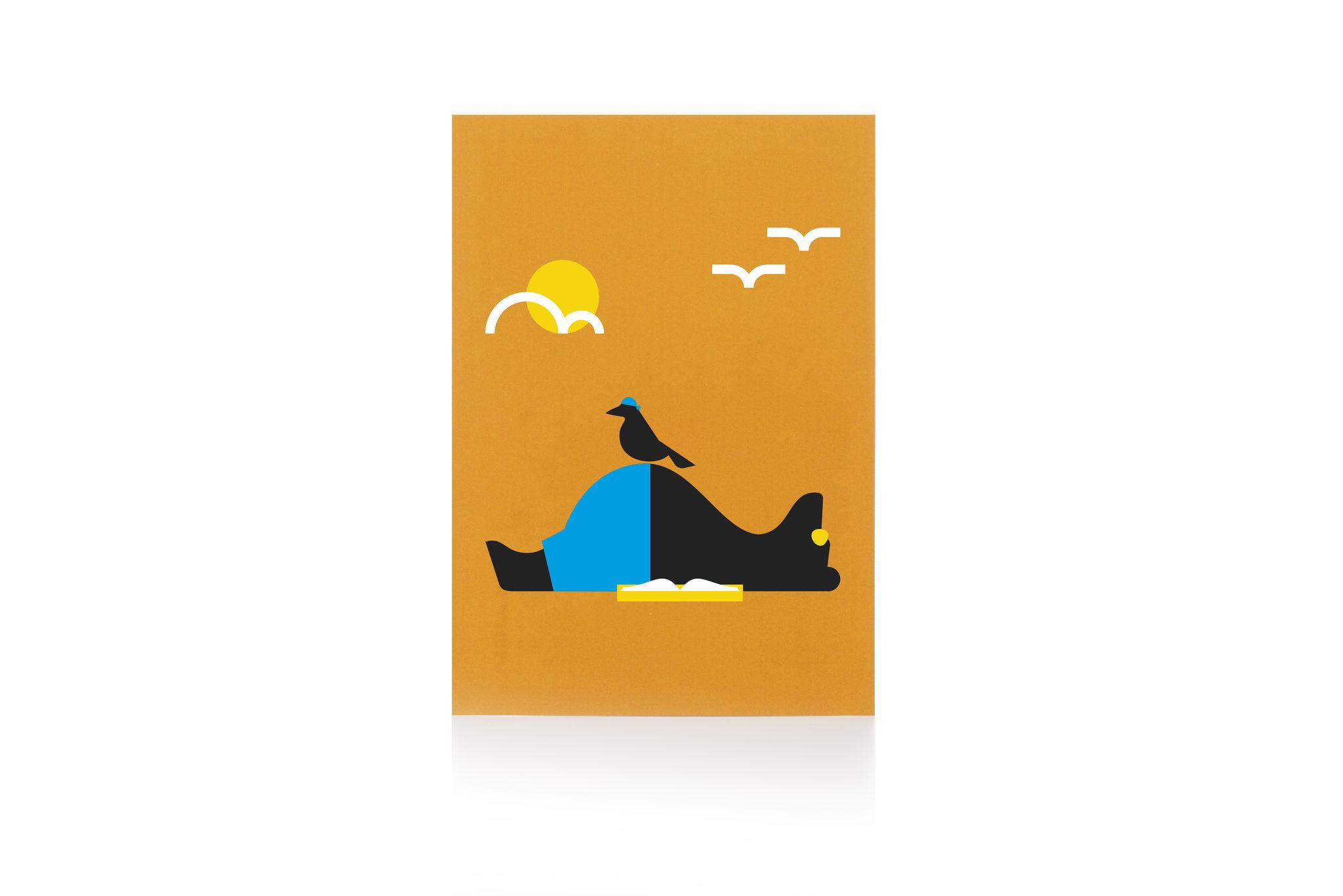 Postikortti biitsikarhu