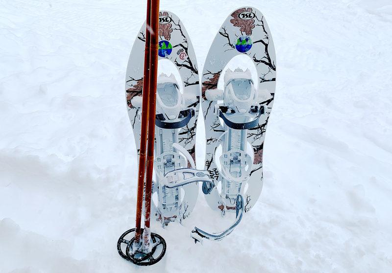 Lumikenkäpari TSL 217 Camo (40–100 kg käyttäjälle)