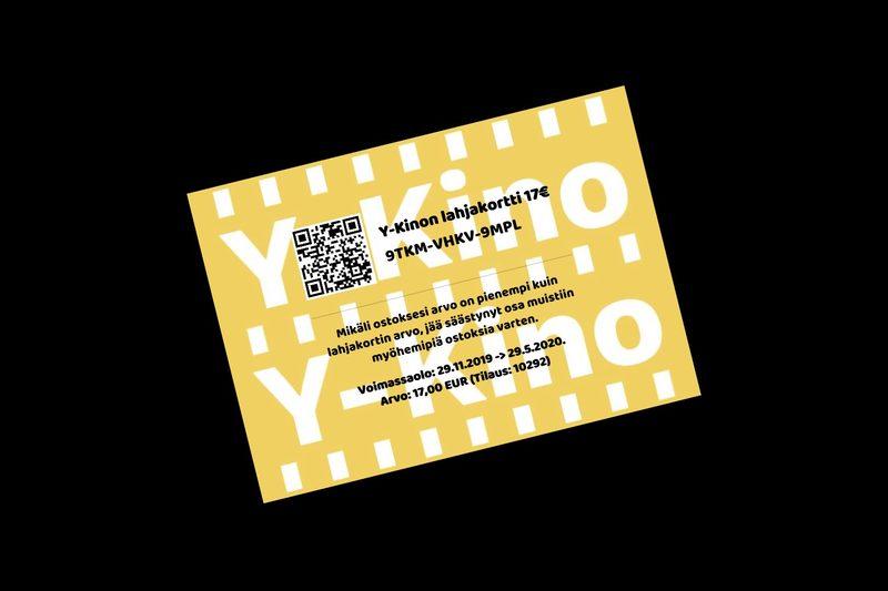 Y-Kinon lahjakortti 17€