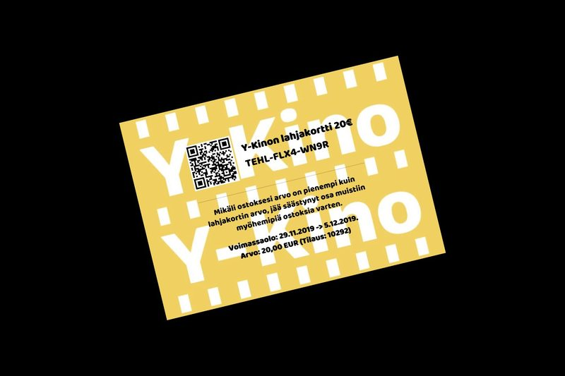 Y-Kinon lahjakortti 20€