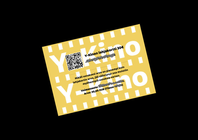 Y-Kinon lahjakortti 30€